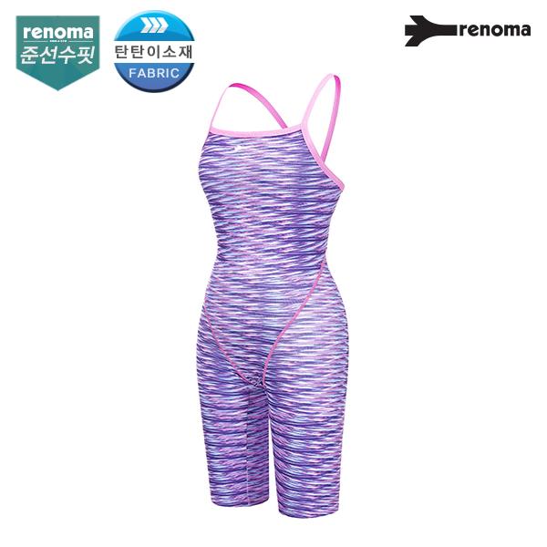 [이현진 수영복] 여성 실내 준선수핏 탄탄이2 X2-BACK 4부 반신수영복 (택1)_RN-LS17817SE