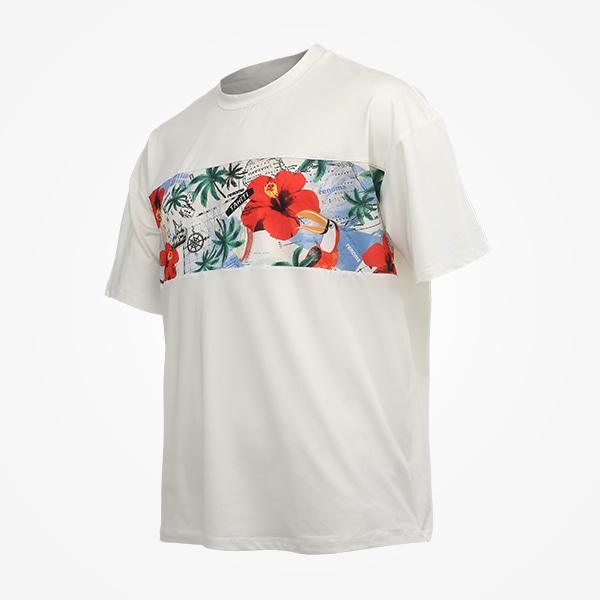 남성 파라다이스 오버핏 티셔츠_RN-TS20909EC